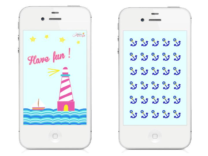 fonds d'écran Iphone diy juillet vacances have fun