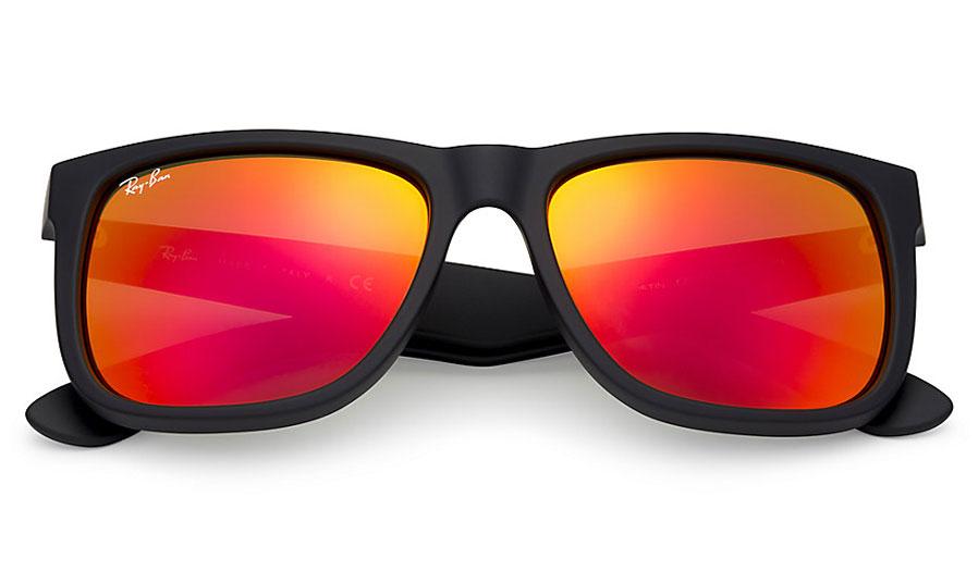 RB4165 Orange Mirrored Ray Ban Wayfarer Size Medium To Small Rs1400