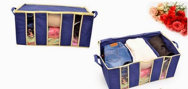 Túi vải đựng đồ quần áo đa năng 3 ngăn cỡ lớn loại dày 2