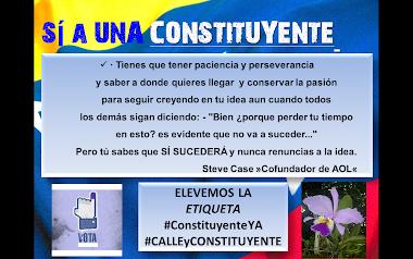SÍ A UNA CONSTITUYENTE