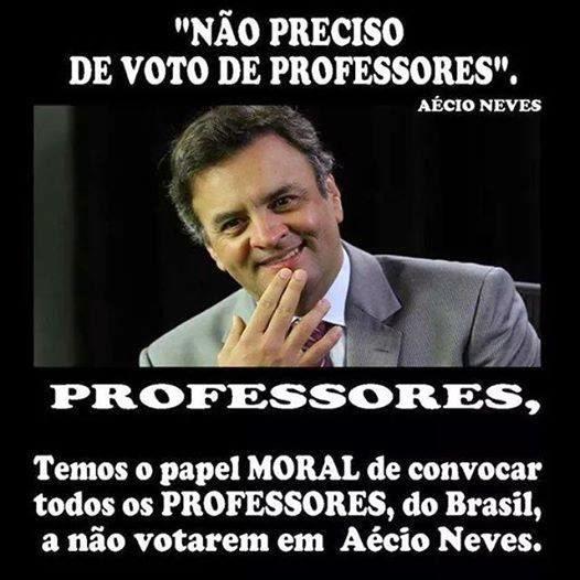 Professor não vota em PSDB