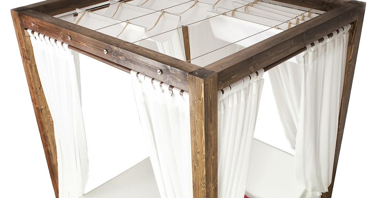 Camillas de masajes cama balinesa con dosel y techo corredizo - Cama con techo de tela ...