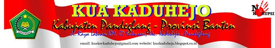 KUA Kecamatan Kaduhejo