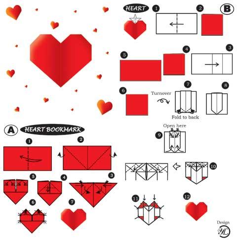 Оригами из бумаги объемное сердце из бумаги своими руками 35