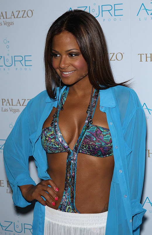 "Christina Milian – ""End of Summer"" Party at Azure Luxury Pool in Las Vegas"