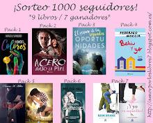 Sorteo del blog Amor por los libros 1000 SEGUIDORES