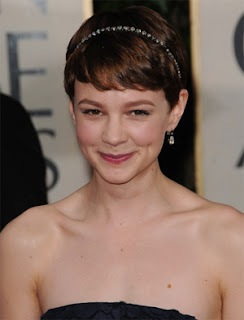 Carey Mulligan Short Formal Hairstyle