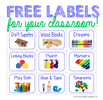 Ridiculous image within free printable classroom labels with pictures
