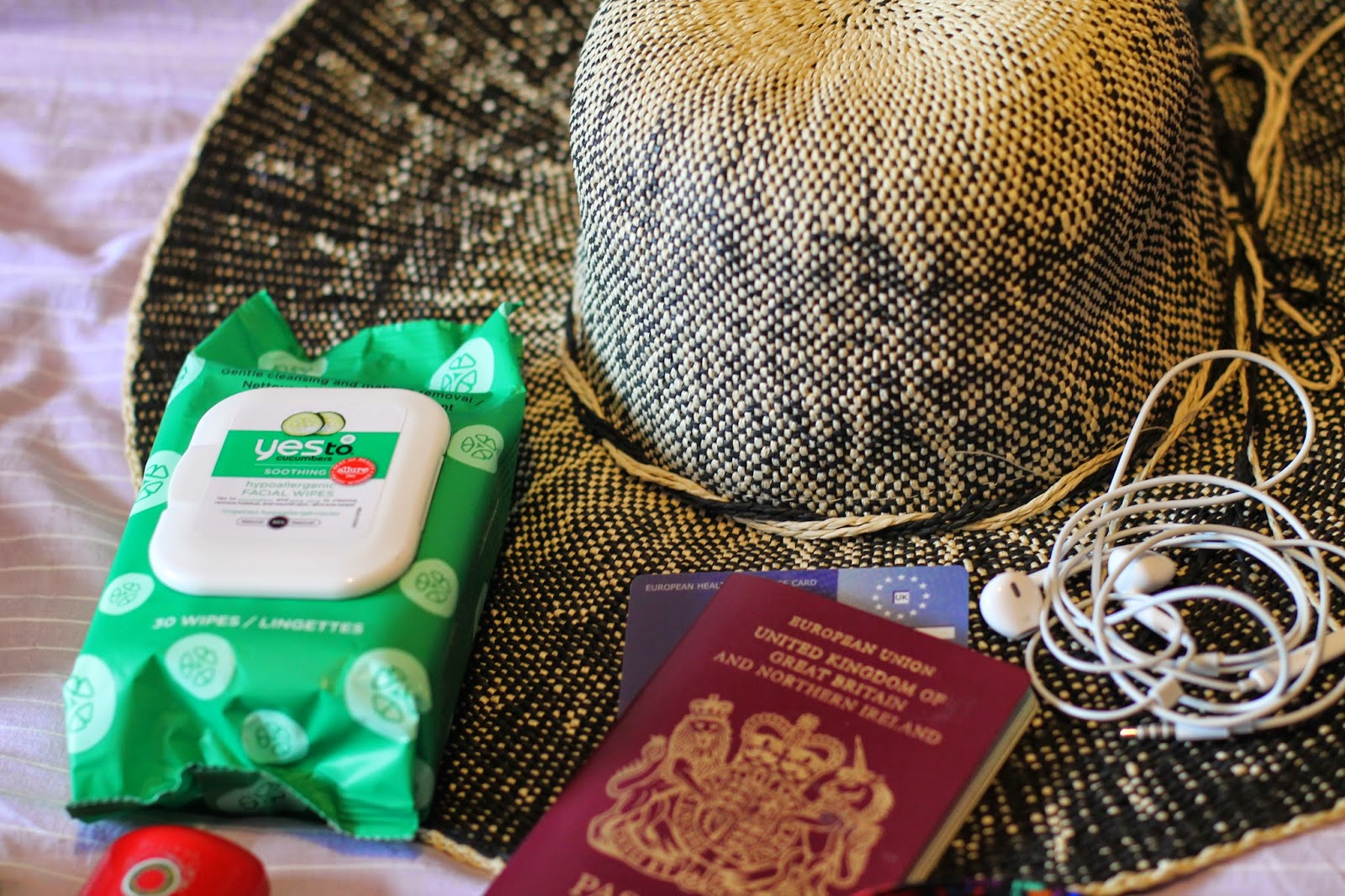 Hat, Wipes, Passport