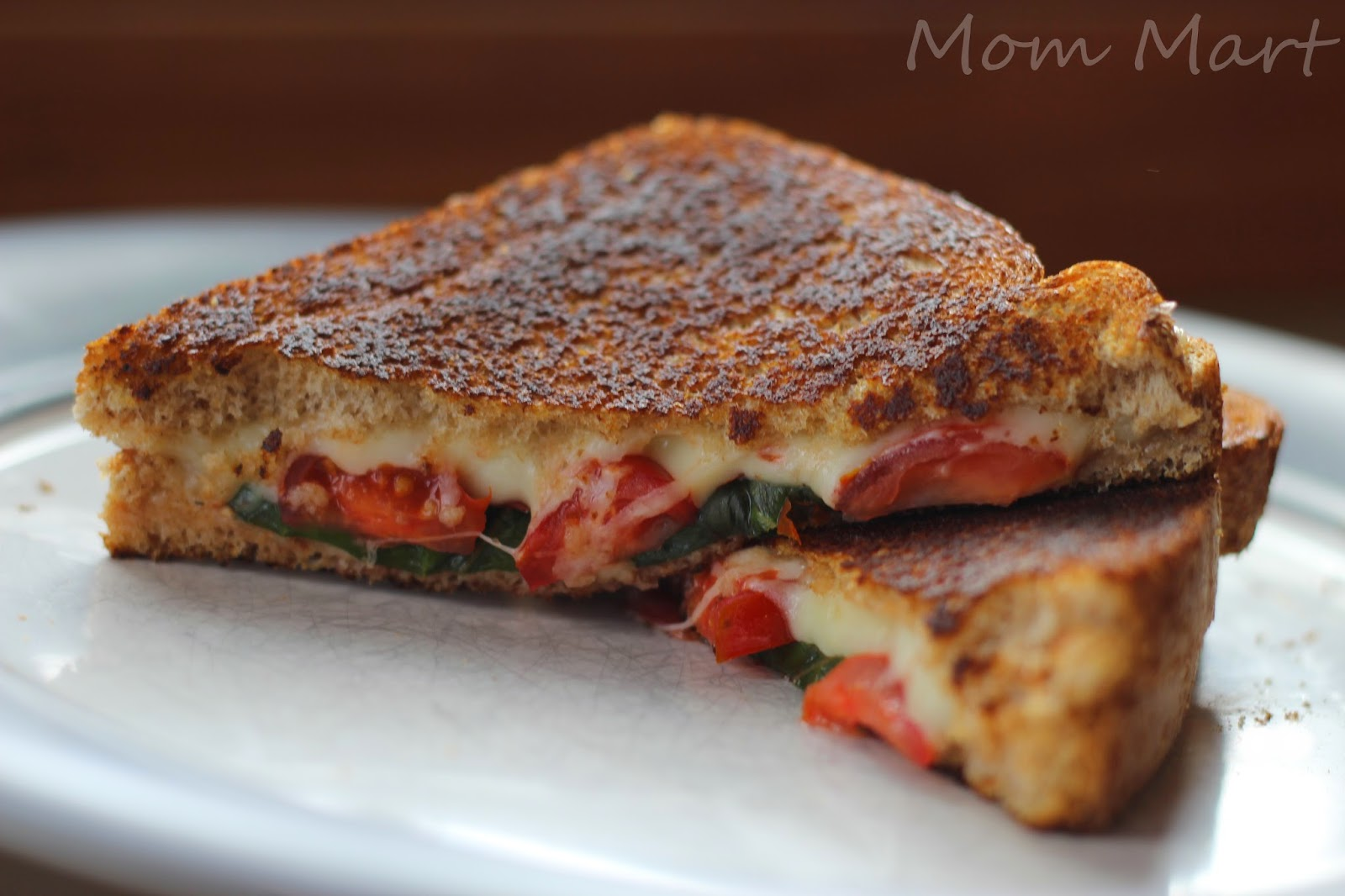 Grilled Cheese Caprese Sandwich #Recipe #ComfortFood #YUM #Caprese