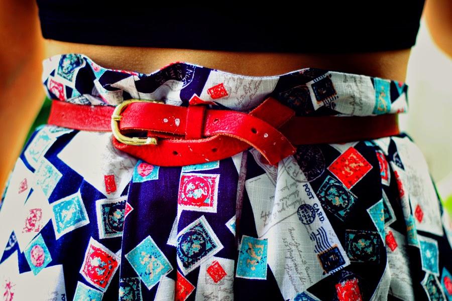 skirt detail belt