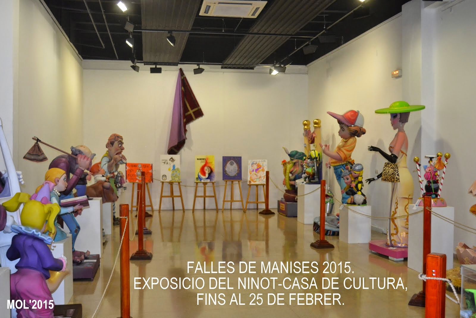 FALLES DE MANISES 2015. EXPOSICIO DEL NINOT EN LA CASA DE CULTURA