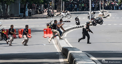 #PrayForJakarta | Pasca-Ledakan Pospol Sarinah, Semanggi Aman