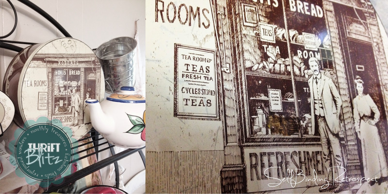 Thrift Blitz Episode One: Vintage Hovis Tin - SelfBinding Retrospect by Alanna Rusnak