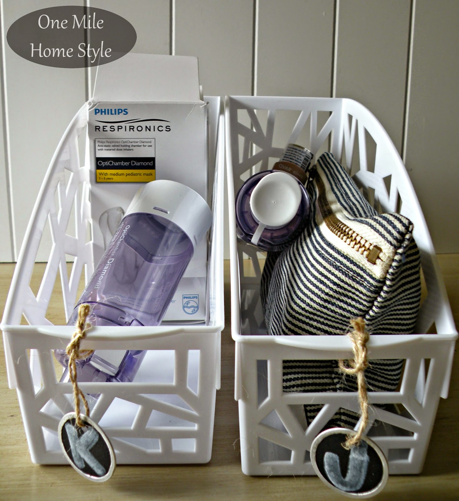 Organizing The Bathroom With Dollar Spot Finds - Storing Everyday Medicines