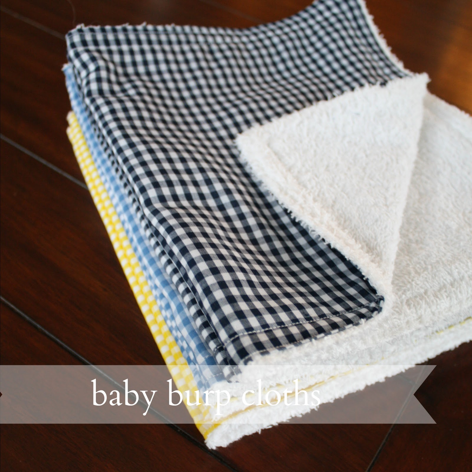 live a little wilder baby burp cloths tutorial