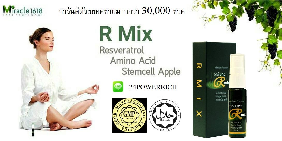 R Mix Resveratrol สุดยอด สเปรย์นาโน เพื่อสุขภาพและความงามในหนึ่งเดียว