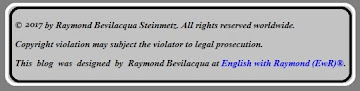 EwR® - English with Raymond® - All Rights Reserved