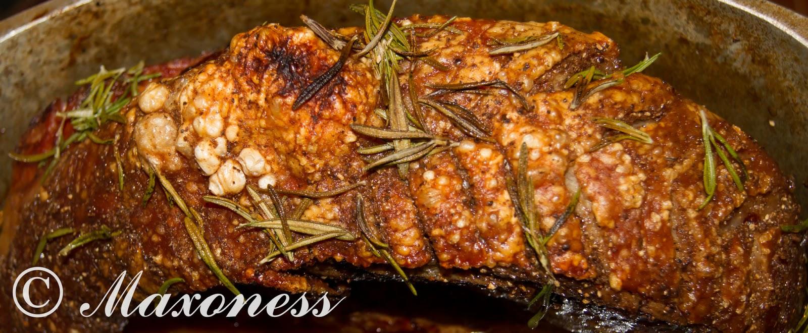 Свиной окорок запеченный в духовке пошагово фото