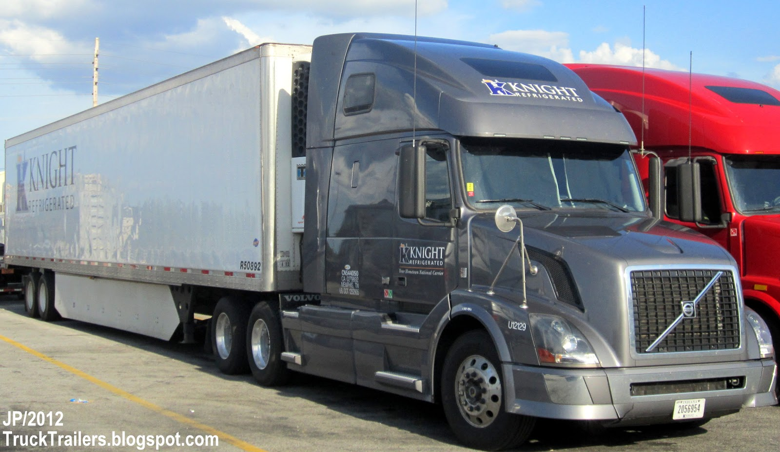 Knight refrigerated truck trailer knight refrigerated trucking memphis division cold food truck olive branch mississippi