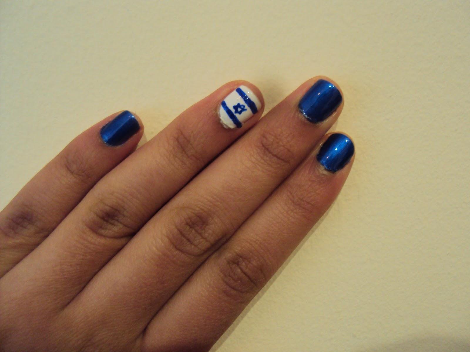 Israel Nails | Nail Art by Lena