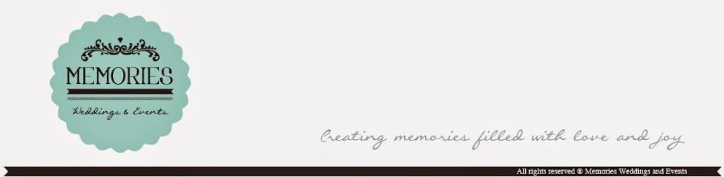 MEMORIES WEDDINGS AND EVENTES BLOG