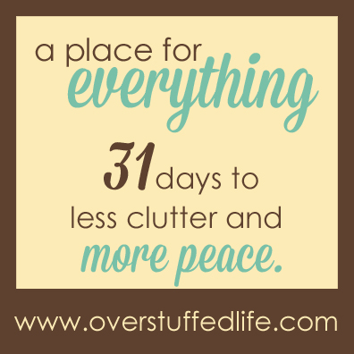 A 31 Day challenge to help you get rid of clutter!