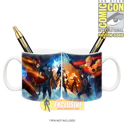San Diego Comic-Con 2015 Exclusive Arrow & The Flash TV Super Hero Fight Club Mug Pen Holder by Icon Heroes