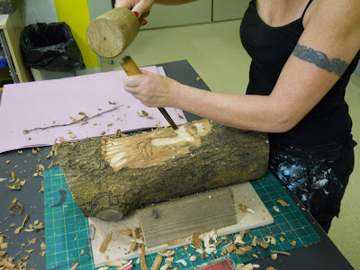 carving ash wood