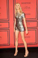 Karolina Kurkova  at 2013 CFDA Fashion Awards red carpet