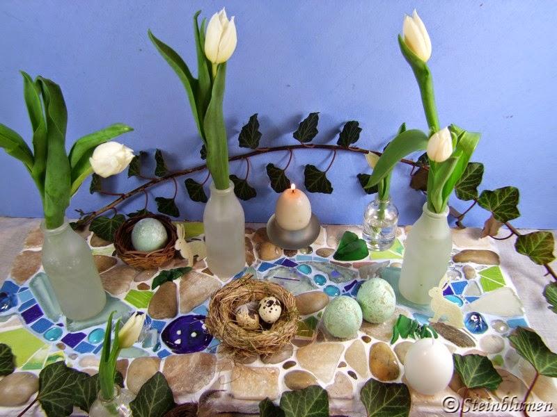 Tischdeko fuer Ostern