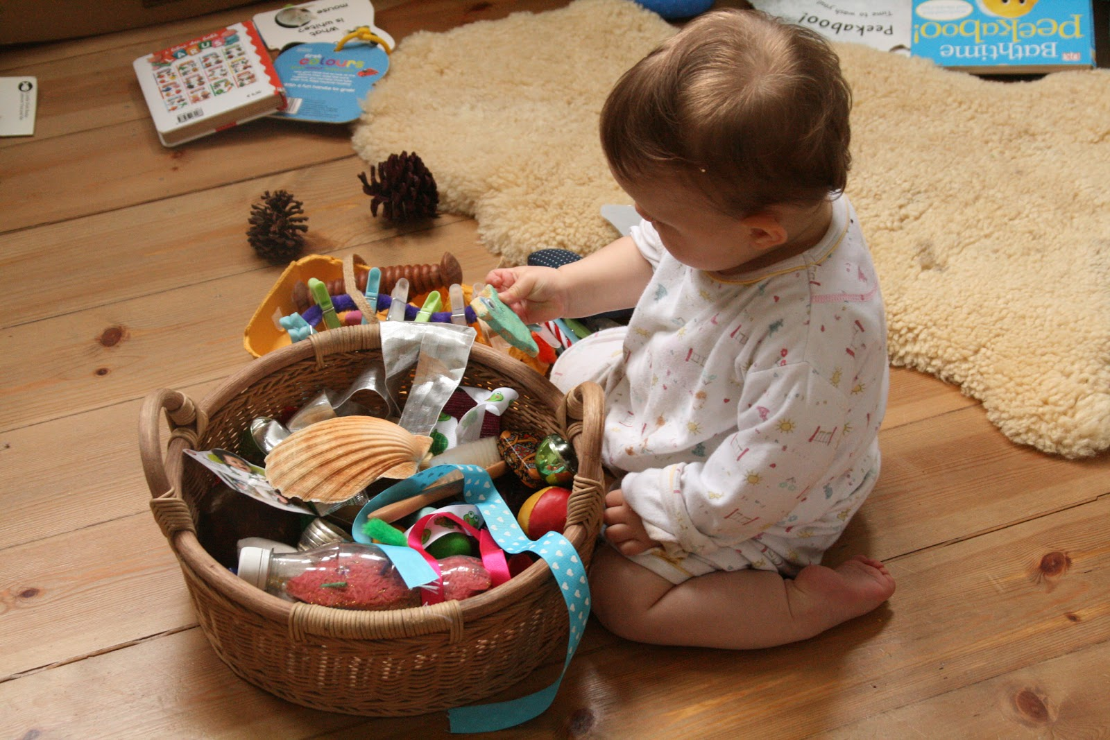 Sensory Toys For 12 Month Old : Baby treasure basket months the imagination tree
