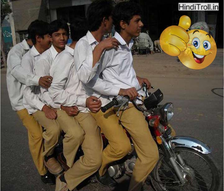 Many Boys Go On One Motorcycle Funny Desi Picture