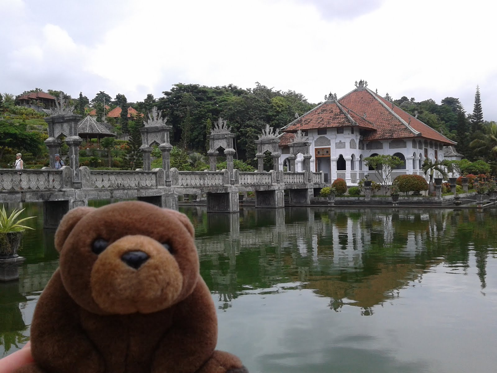 Teddy in Water Palace, Seraya, Indonesia
