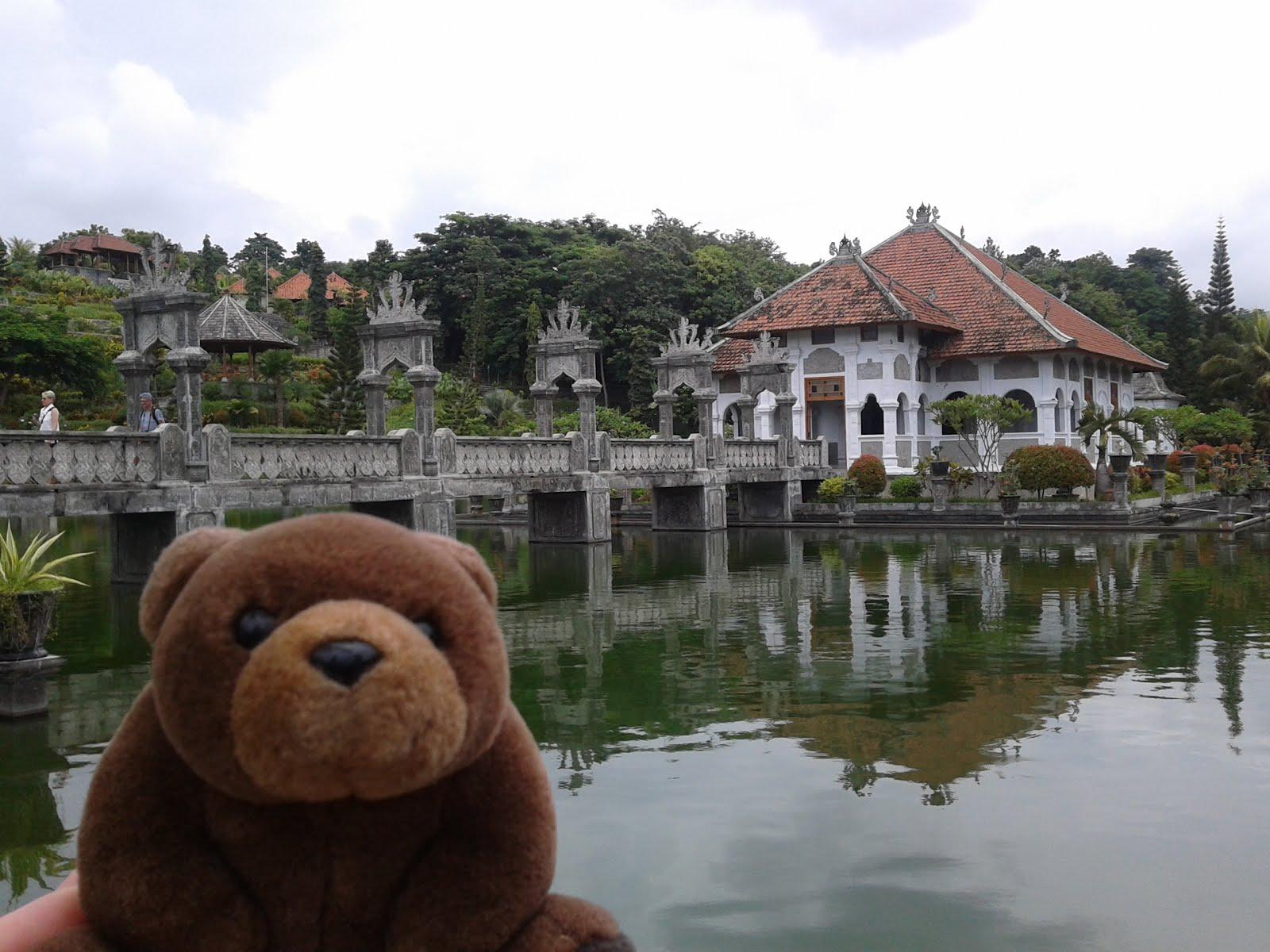 Teddy in Water Palace, Seraya, Indonesia