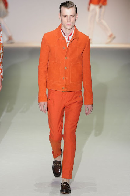 Male model George Barnett S/S 2013 Gucci