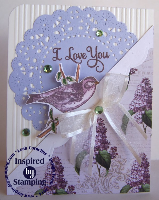 Inspired by Stamping, Leah Cornelius, I Love You Because, Spring Lilacs, Spring Lilacs Paper Pad, thinking of you card