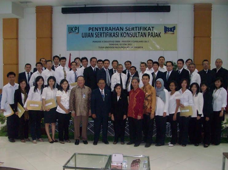bersama pengurus IKPI Pusat