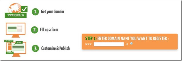 Wow! Google offers Free Website with .in domains