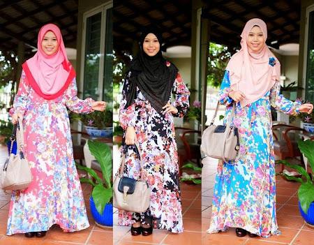 Chiffon Flower Dress Menawan. Ada Banyak Pilihan Warna Full Lining Tidak Jarang