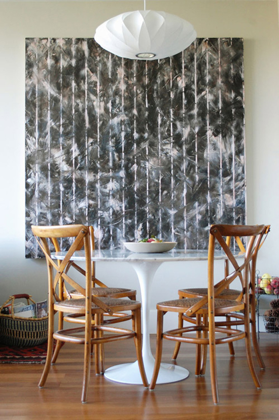 DECOR TREND: Large scale wall art | Styling and photography by Lena Corwin via Design Sponge