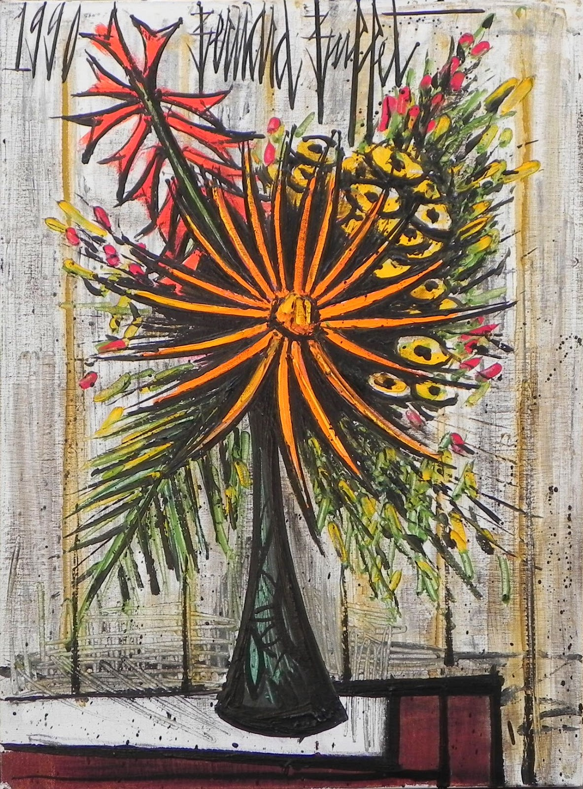 bernard buffet flowers painting