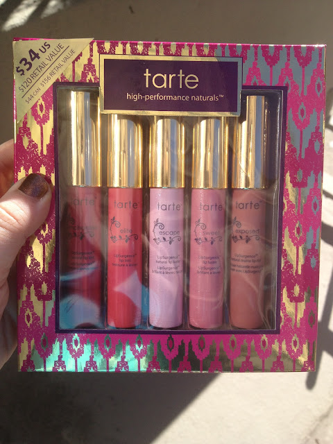Tarte LipSurgence Collector's Set Swatches, Photos & Review