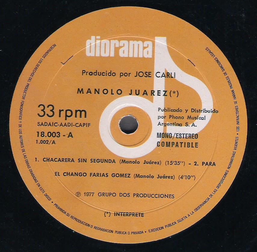Manolo Juarez - Tiempo reflejado (1977)