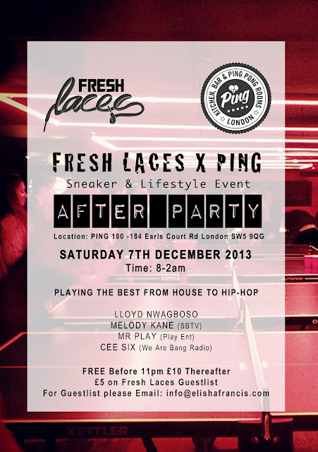 fresh laces, we are ping, sneaker event, sneakers, sneakerheads, london events, ping