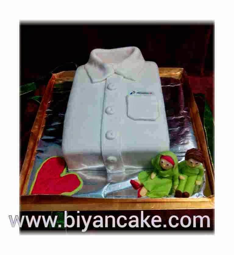 Cake baju seragam ~ Yunita