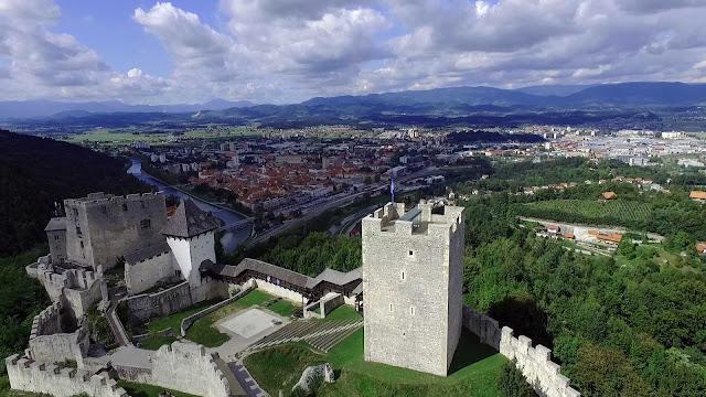 celjski grad, stari grad, celje, snemanje iz zraka, zračni posnetki