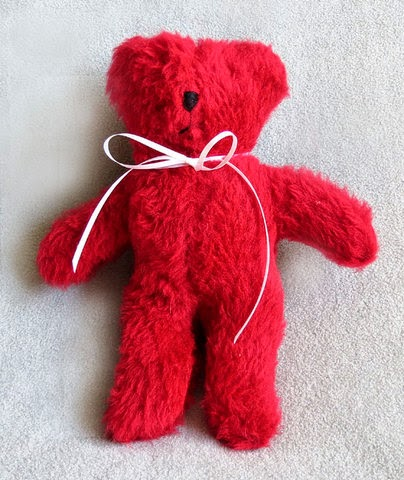 Handmade Red Teddy Bear