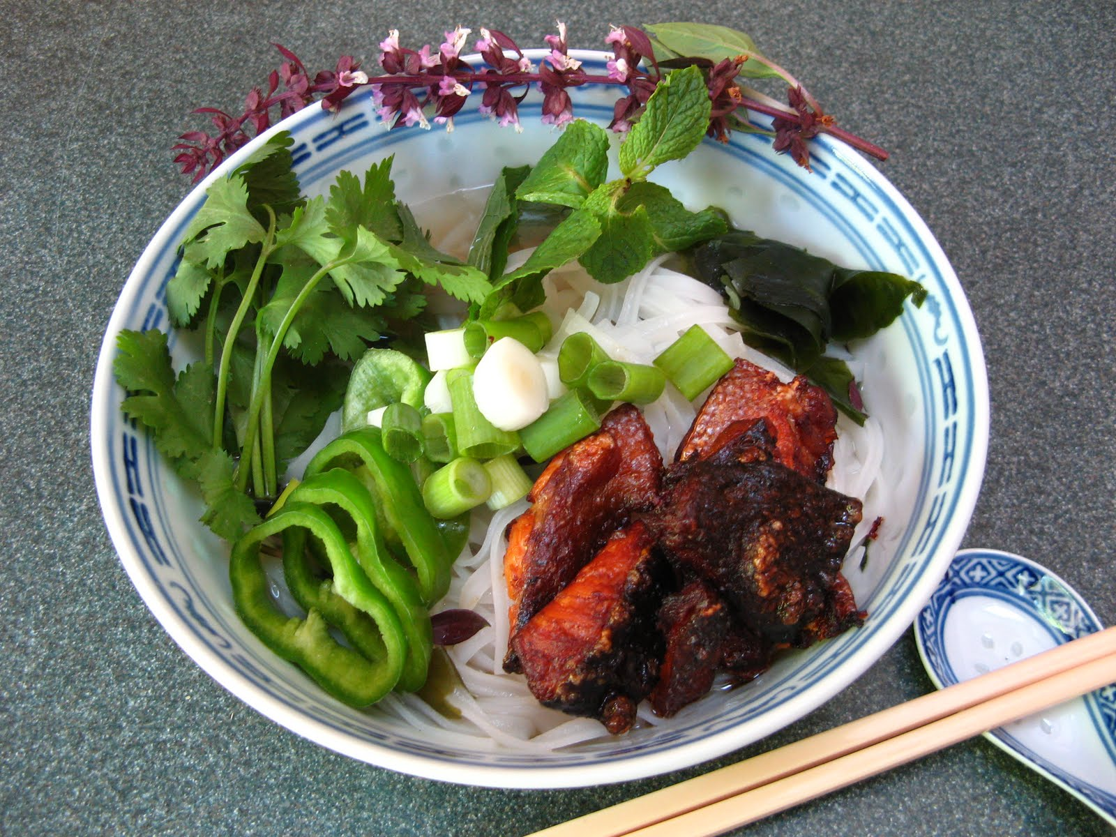 Duck Soup Easy: Crispy Teriyaki Salmon Skin Noodle Soup