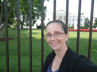 Me, in front of the White House